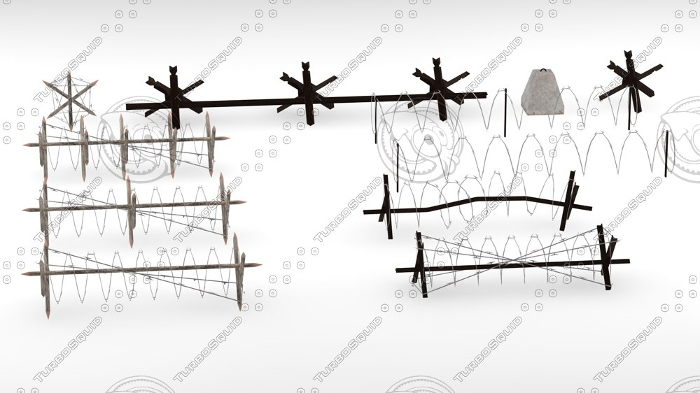 3d model blockade barrier