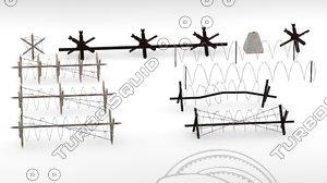 3d model blockade barrier