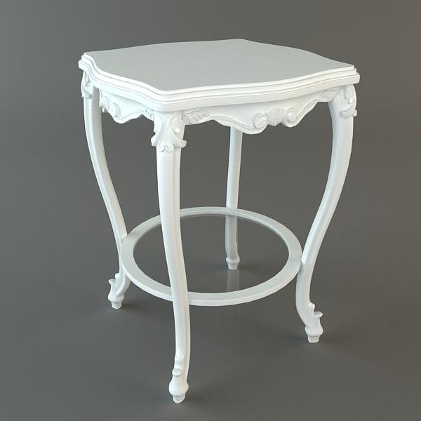 3ds antique table