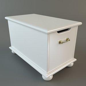 3d chest storage wooden