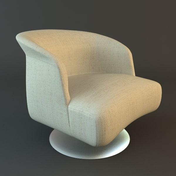 3d armchair details materials