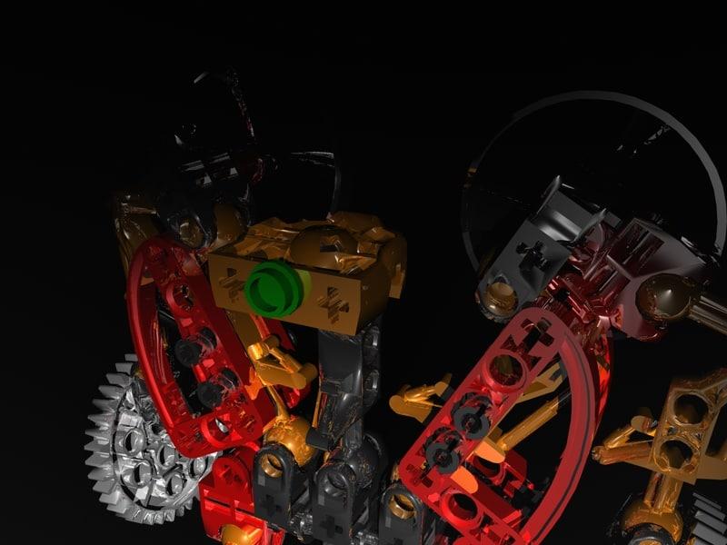 3d lego robot model