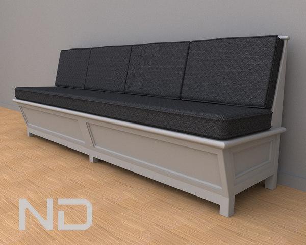 3d model sofa wood