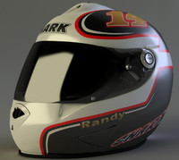 3d model shark rsr2 helmet randy