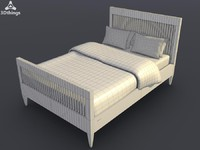 marseille white bed 3d model