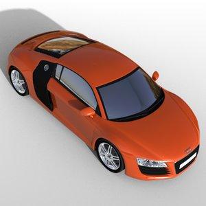 3d model car v8
