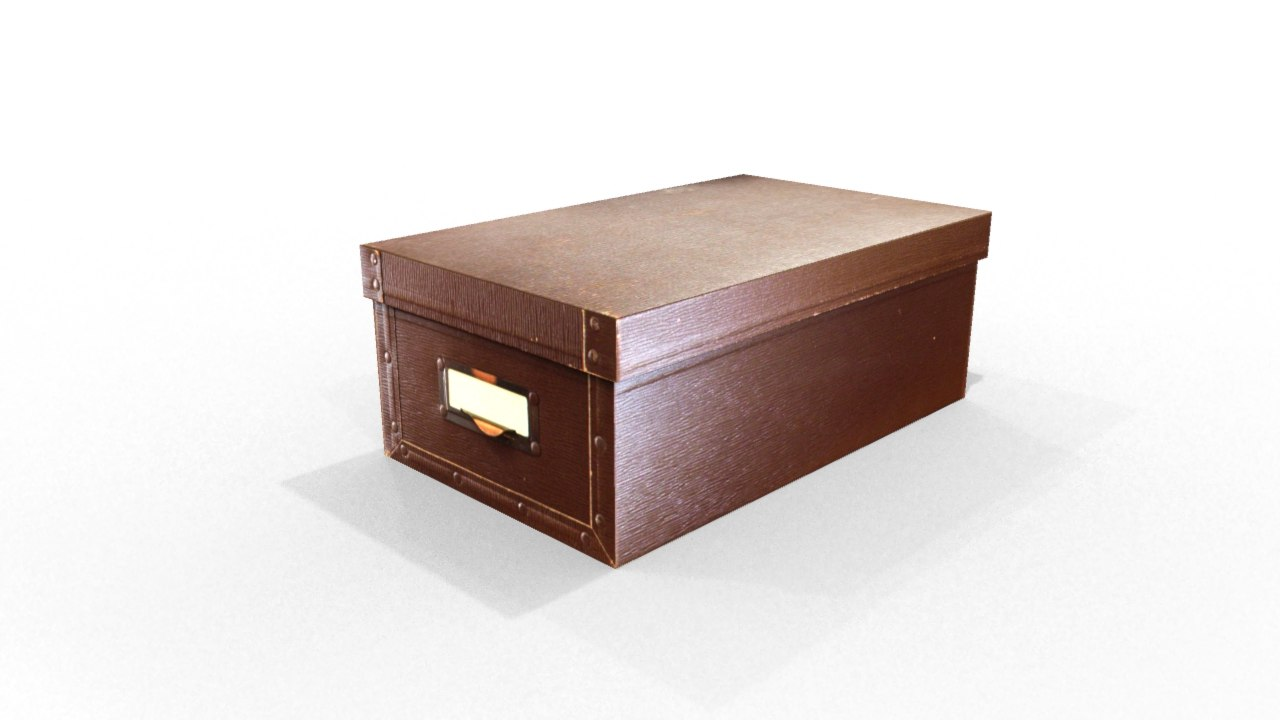 classic box cardboard 3ds