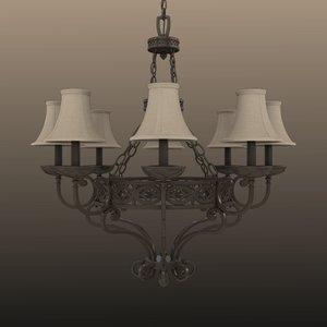 fbx chandelier light lamp
