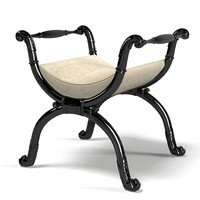 CHELINI 337 classic banquette stool x chair baroque seat