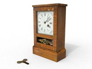 old clock 3d 3ds