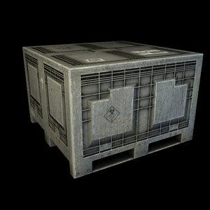 3d model industrial plastic crate