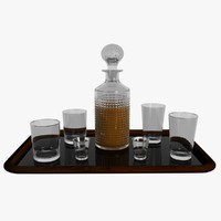 realistic decanter set 3d max