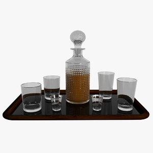 realistic decanter set 3d max