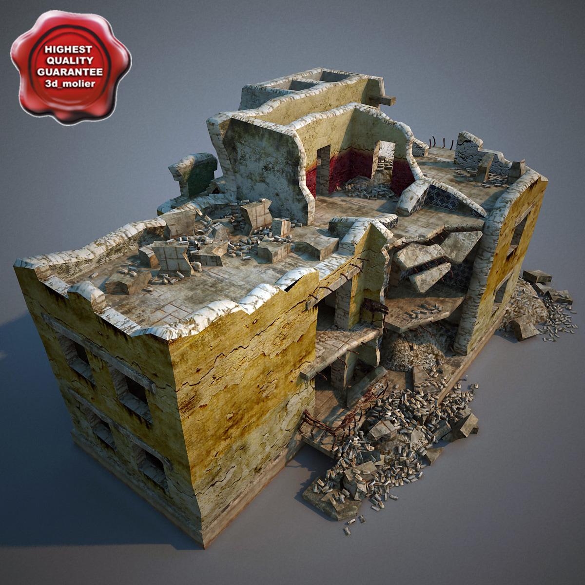 3dsmax destroyed house v3