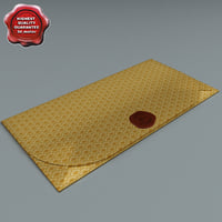 envelope greetings close 3d model
