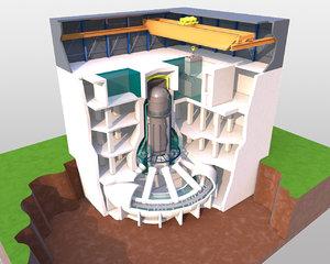 3ds max nuclear reactor block fukushima