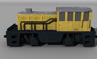 ge switcher locomotive 3d model