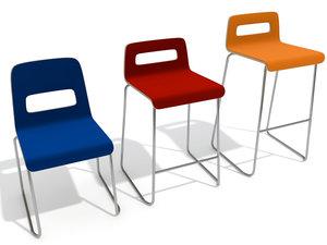chair stool lapalma hole 3ds