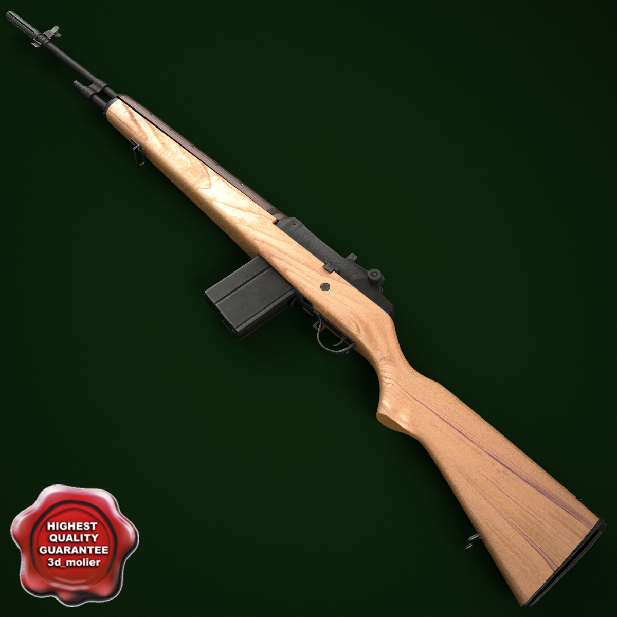 m14 rifle 3d model