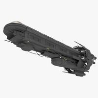 3d spaceship sci fi model