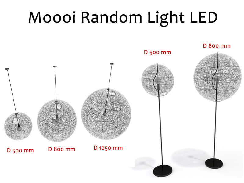 3d suspension lamps moooi random