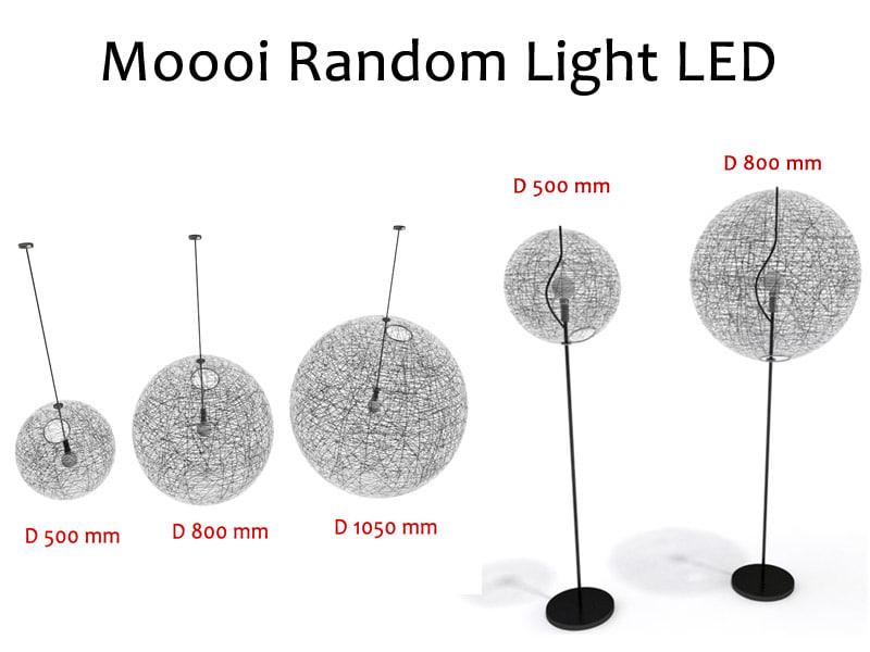 3d suspension lamps moooi random