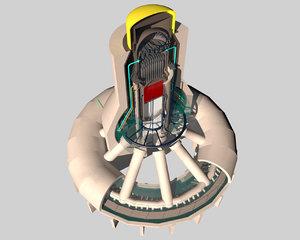 3d model reactor core cooling fukushima