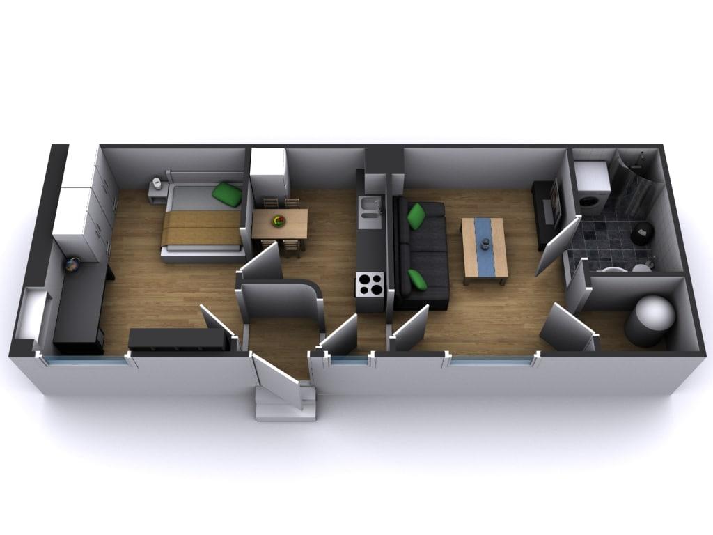 apartment furnitures 3d model
