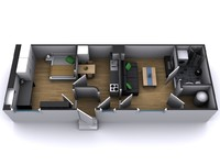 3d apartment furnitures model
