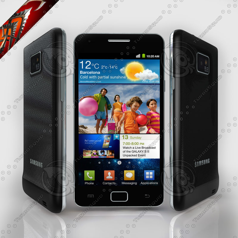 samsung galaxy i9100 android 3d max