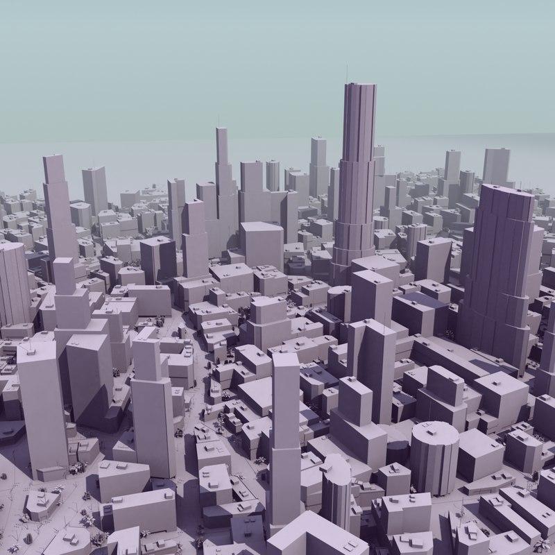 3d city mass modeled