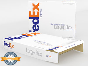 3d model large fedex box