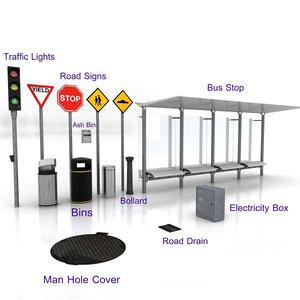 street furniture 3d max