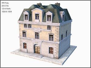 3d model world war ii town