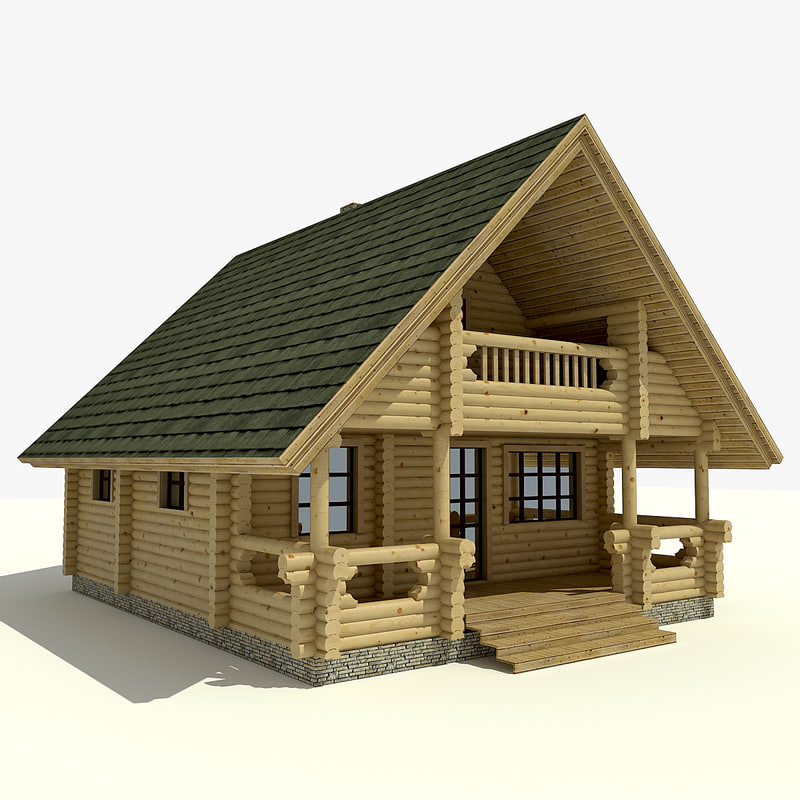 House wooden 3d model for Building model houses