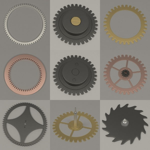 3ds clock gear wheels