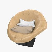 3d armchair moroso bohemian