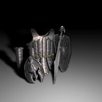 armor sword 3d obj