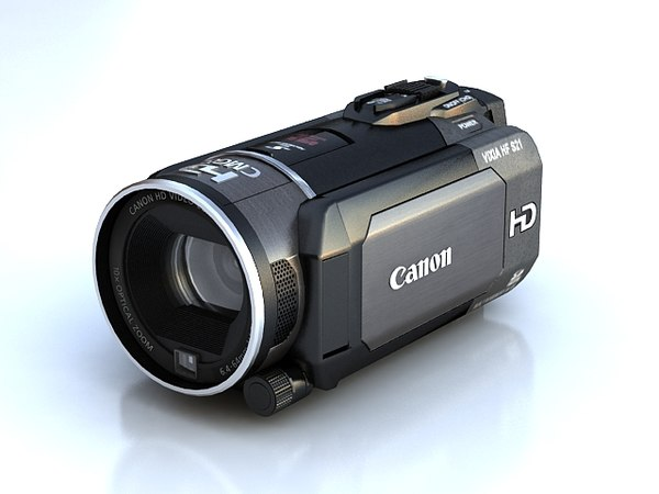 canon hf s21 3d model