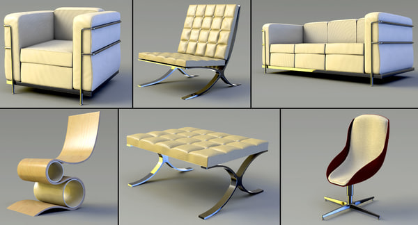 3ds max furniture chairs couch