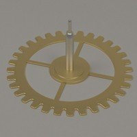 clock gear wheel 3d model