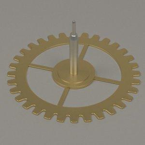 clock gear wheel 3d model