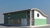 3d model commercial building