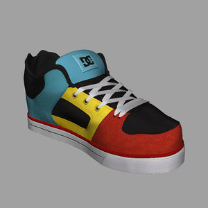 3d dc shoes model