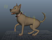 3d model dog - rigging