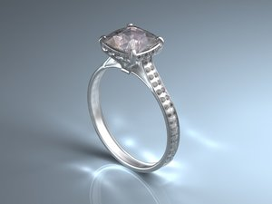 diamond ring 3d max