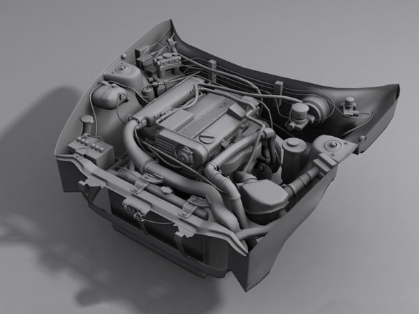 3dsmax engine car