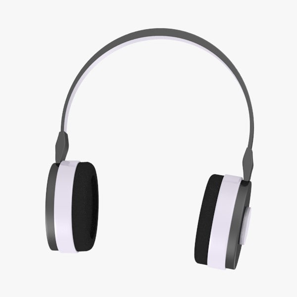 headphones head 3d model