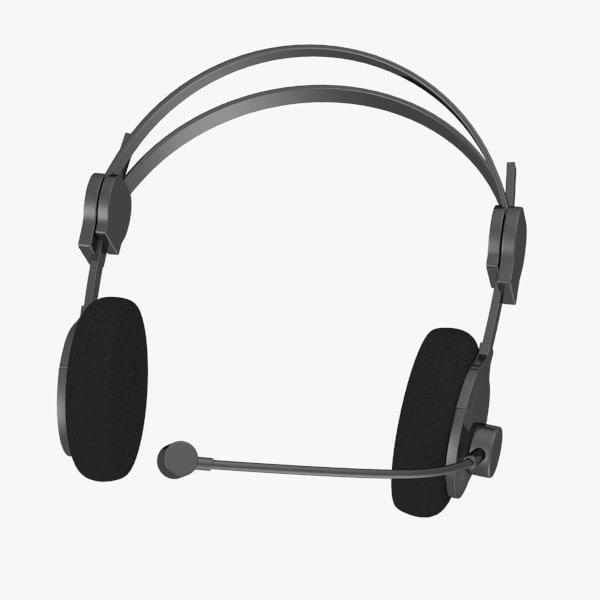 3d headphones microphone