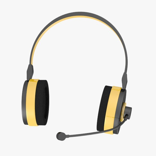headphones microphone 3d model